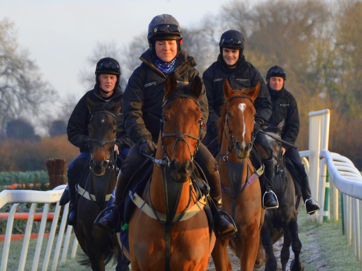 work riders on gallop