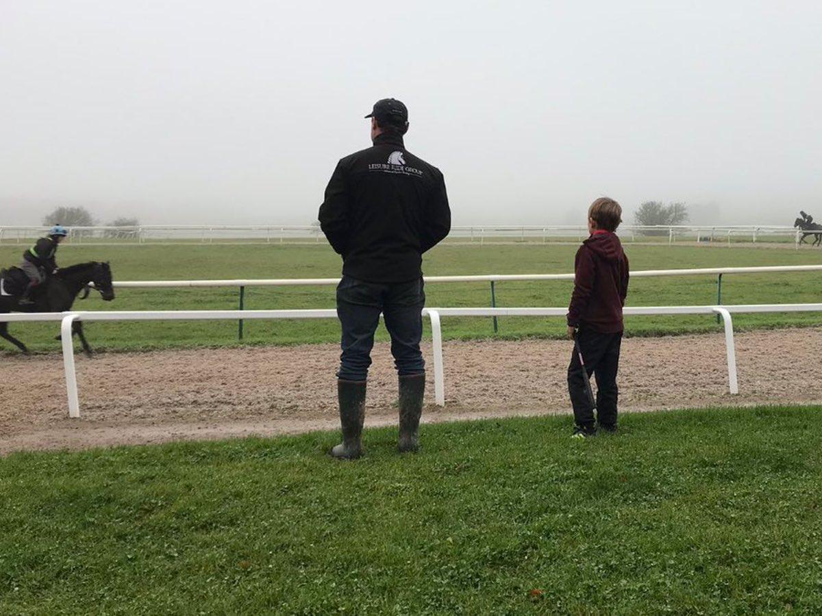 training racehorses at keighley racing